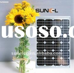 60W mono crystalline solar panel, PV module for solar power system