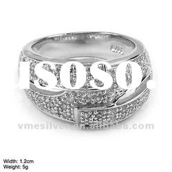 925 Silver Ring with CZ Stones [RZH-1057], Sterling Silver Ring with cz Stones