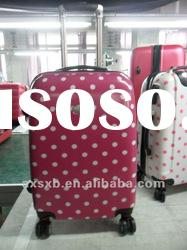 ABS+PC travel trolley new design dots high quality box case luggage