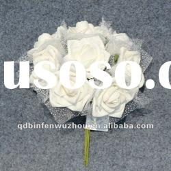 Artificial Open Foam Rose Flower Craft,Artificial Foam Flower for Wedding Decoration