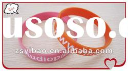 Cheap Screen Printing New Design Silicone Wristbands