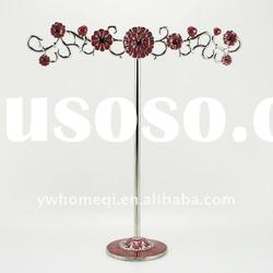 Classical ladies favourite crystal metal jewelry display stand for jewerly users