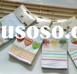 Customized waffle weave embroidery tea towel/kitchen towel/cleaning towel