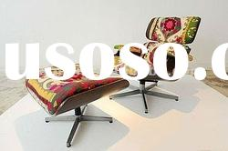 Eames arabian fabric lounge chair and ottoman