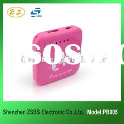 External portable Power Bank for mobile devices with Fashion Design 2000mAh