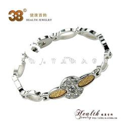 Gold foil CZ Mangetic bracelet bangles + Lady fashion bracelets + Magnetic germanium bracelets