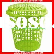 Green laundry basket with lid plastics