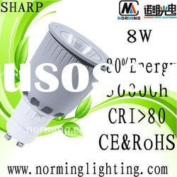 High power Sharp COB Dim 8w led gu10 bulbs