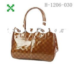 Honour bags lady bags,brown handbags, smooth leather case- 1206030