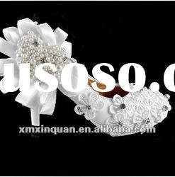 JSS055 fashion 2012 new style ladies high heel hand sewed pearls white lace wedding shoes
