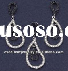 Jewelry for set or earring 925 silver with zircon whole sales