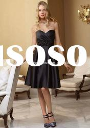 KW9592 boutique nice black knee length evening dresses