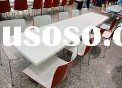 Kingkonree solid surface marble tables and chairs for restaurant
