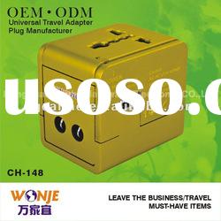 MULTIPLE universal travel adapter with usb charger 5V/1A 2012