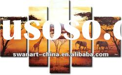 Modern African Canvas Art Landscape Oil Painting-group wall art