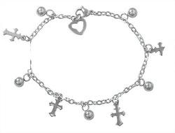 New Religious charm bracelets women accessories stainless steel fashion jewelry