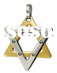 Newest grand looking Star of David pendant wholesale stainless steel jewelry