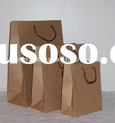 Paper twisted handle recycled brown paper bag, brown printable paper bag, machine kraft paper bag