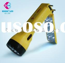 Rechargeable LED flashlight with reading lamp(KD-209)