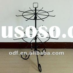 Revolving Metal Decorative Table Top Display Stand with Pigtail Sign Holder