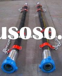 S.S winding high pressure resistant rubber oil suction hose for drilling