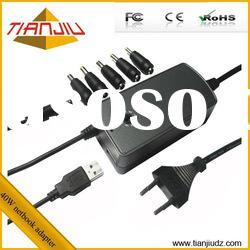 Top 40W universal adjustable mini netbook charger with usb