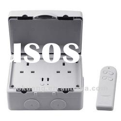 UK-078 IP66 Outdoor Remote Control power socket - 2 Gang UK type, ip66 Socket, waterproof socket