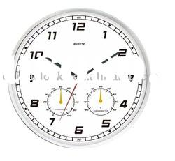 Weather Station Modern Wall clock in White