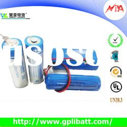 aa lithium battery 3.6v er14505 lithium thionyl chloride battery