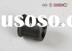 black socket coupling DIN standard beaded malleable iron pipe fitting