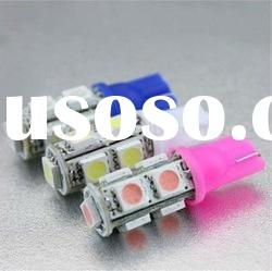 bright white color 9SMD 5050 T10 Wedge 12V auto LED lamp bulbs