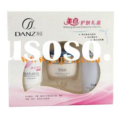 cosmetic set box with clear PVC window
