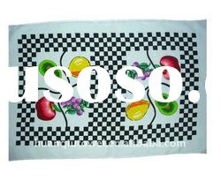 cotton printed velour kitchen tea towel/dish towel