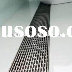 drainage gutter with stainless steel grating cover