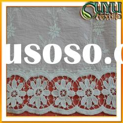 embroidery lace fabric/cotton lace fabric