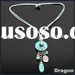 fashion jewelry alloy turquoise necklace