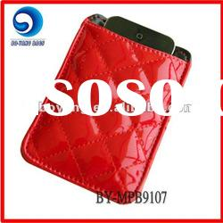fashion shiny red cell phone bag/mobile phone accessories