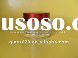 frosted facial cream glass cosmetic jar with aluminum cap