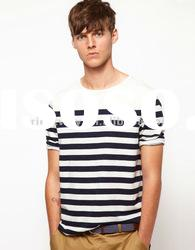 high quality black with white stripe shirts for men