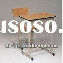 hot sale wood student chair and desk,single student desk and chair,school furniture