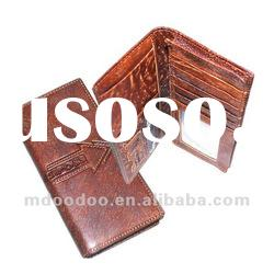 long Genuine leather wallets for men