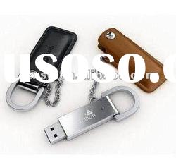 push out leather usb flash drives with 4gb