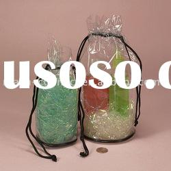 pvc cosmetic drawstring clear packaging bag