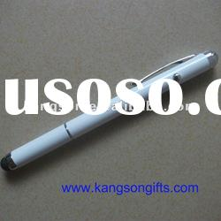 rubber capacitive touch screen ball pen wth laser pointer