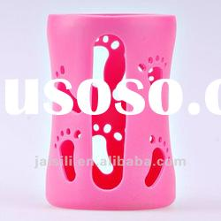 silicone baby bottle sleeve/silicone baby bottle cover