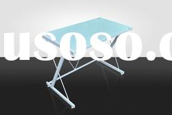 white /black tempered glass office table ATY-001