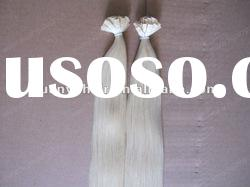"1g/s 24"" Flat-tip prebonded remy human hair extension/Keratin flat tip hair extension"