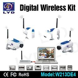 2012 New Network Quad View Digital Wireless Wifi Video Security Camera System