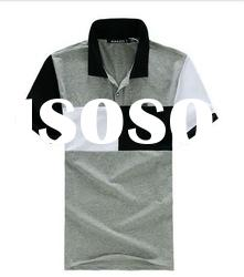 2012 the latest design of men's cut and sew polo shirt