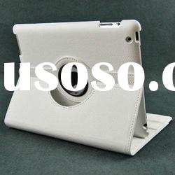 360 degree for ipad 3 case with leather material